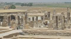 Persepolis old stone ruins Stock Footage