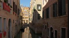 Palazzo Paruta and  Rio de Ca' Granzoni in Venice Stock Footage