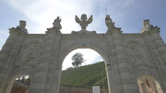First gate of Alba Iulia fortress seen from inside Stock Footage