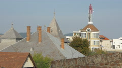 Roofs seen from the Alba Iulia fortress Stock Footage
