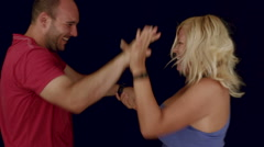 Funny couple fighting - stock footage