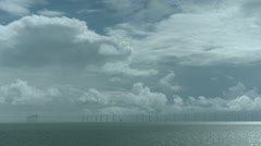 Wind Farm in sea Storm Time-lapse Stock Footage