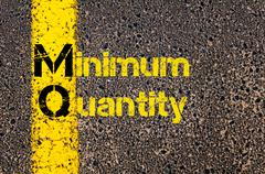 Business Acronym MQ as Minimum Quantity - stock photo