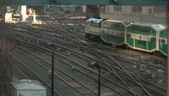 Go Train Downtown Toronto Stock Footage