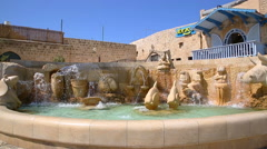 JAFFA, ISRAEL SEPTEMBER 17, 2015: Video of Zodiac Fountain in Kedumim square Stock Footage