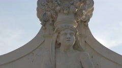 Close up of god Atlas placed on the second gate of  Alba Iulia fortress Stock Footage