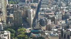 Flat iron building from empire state building, ny Stock Footage