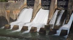 Dam on the Phewa lake Stock Footage