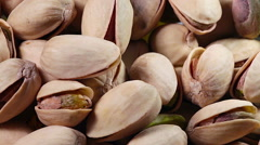 Pistachio nuts background - stock footage