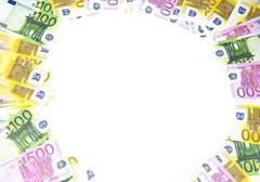 Background of hundreds euro Stock Photos