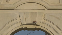 Embossment of Hercules on the interior facade of the first gate in Alba Iulia Stock Footage