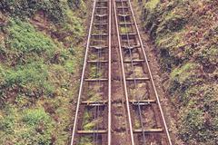 Stock Photo of Cliff rail on a hill