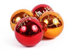 Balls christmas ornament Stock Photos