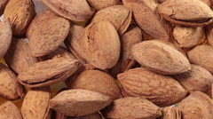 Rotating Almonds Stock Footage