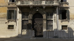 Stock Video Footage of Old building with massive door in Campo Sant'Angelo in Venice