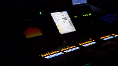 Work Place Sound Engineer's. Mixing Console Stock Footage