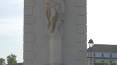 Statue of Atlas on the second gate of Alba Iulia fortress Stock Footage