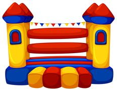 Jumping castle with no children Stock Illustration