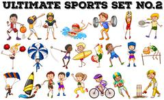 Various kind of sports - stock illustration