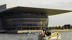 Danish opera house Stock Footage