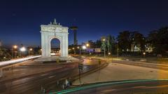 madrid monumental arch - stock photo
