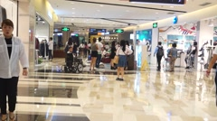 Shenzhen shopping mall interior landscape in China Stock Footage