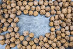 Stock Photo of Plenty of walnuts