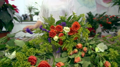 Floral Design - stock footage