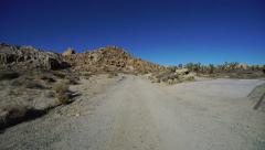 4K Driving Plates Desert Canyon Front View Stock Footage