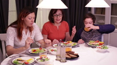 Happy Family lunch Stock Footage