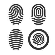 Fingerprint icons set Stock Illustration