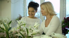 Helping to Choose Flowers Stock Footage