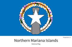 National flag of Northern Mariana Islands with correct proportions, element Stock Illustration