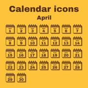 Stock Illustration of The calendar icon. April symbol. Flat