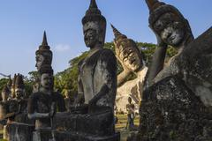 Stock Photo of Laos, Religious statues in Buddha Park