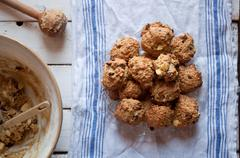 Amish apple and raisin cookies Stock Photos