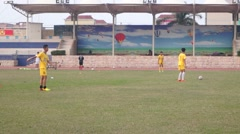 The school football field, in China Stock Footage