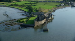 Blackness Castle from River Forth, Scotland - stock footage