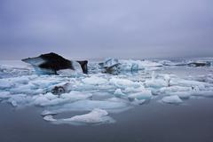 Iceland, Ice floes - stock photo