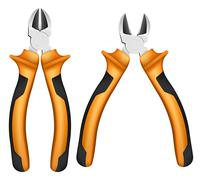 nippers with orange handles - stock illustration