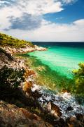 Greece, Sithonia, Turquoise beach Stock Photos