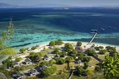 Indonesia, East Nusa Tenggara, Ende, Flores, Elevated view of island resort Stock Photos
