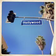 USA, California, Los Angeles, Hollywood Boulevard sign Kuvituskuvat