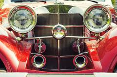 Red retro car Stock Photos