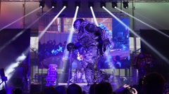 Cosplay for Cthulhu (Secret City) on stage at Everycon Stock Footage