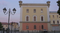 View of the National Museum of Unification in Alba Iulia Stock Footage