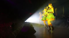 Balagan Limited Group on stage at a party Diskach 90th Stock Footage