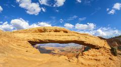 Mesa Arch in Canyonlands National Park, USA. Stock Photos