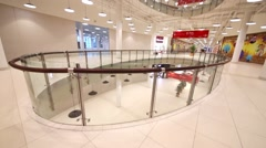 Interior of the modern shopping center Aviapark. Stock Footage