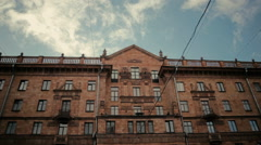 Belarusian building in Minsk under the sky Stock Footage